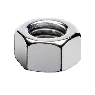 1/4 in.-28 Chrome Hex Nut (4-Pack)