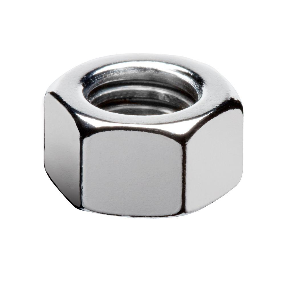 1/4 in. Chrome Hex Nut (6-Piece/Pack)