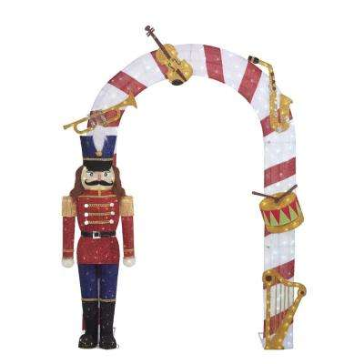 Toasty Tinsel 96 in. Christmas LED Arch and Nutcracker