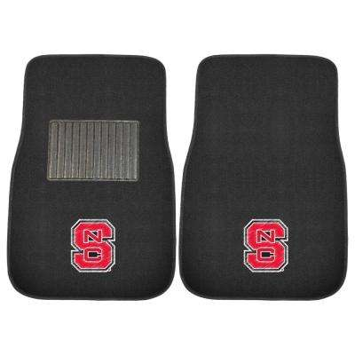 NCAA North Carolina State University 17 in. x 25.5 in. 2-Piece Set of Embroidered Car Mat
