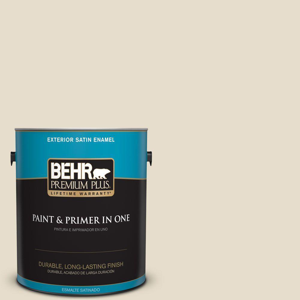 BEHR Premium Plus 1-gal. #ECC-21-1 Desert Plain Satin Enamel Exterior Paint