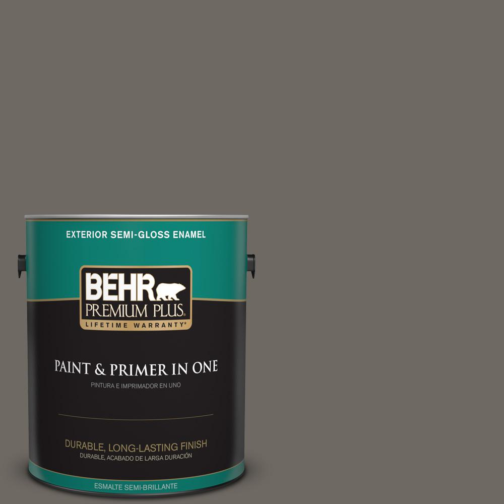 1 gal. #PPU24-04 Burnished Pewter Semi-Gloss Enamel Exterior Paint