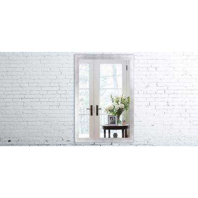 30 x 36 mirror reclaimed wood 36 in 30 taciturn silver gunmetal mirror mirrors home decor the depot