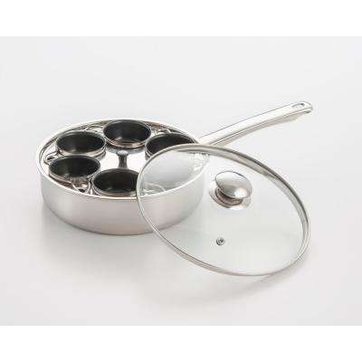 6-Cup 18/10 Stainless Steel Egg Poacher with Nonstick Egg Cups