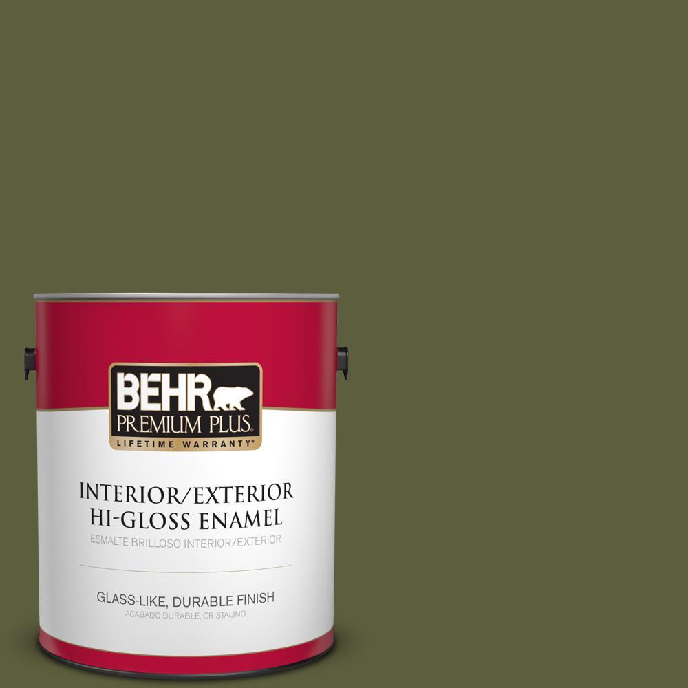 1 gal. #PPU9-25 Eastern Bamboo Hi-Gloss Enamel Interior/Exterior Paint