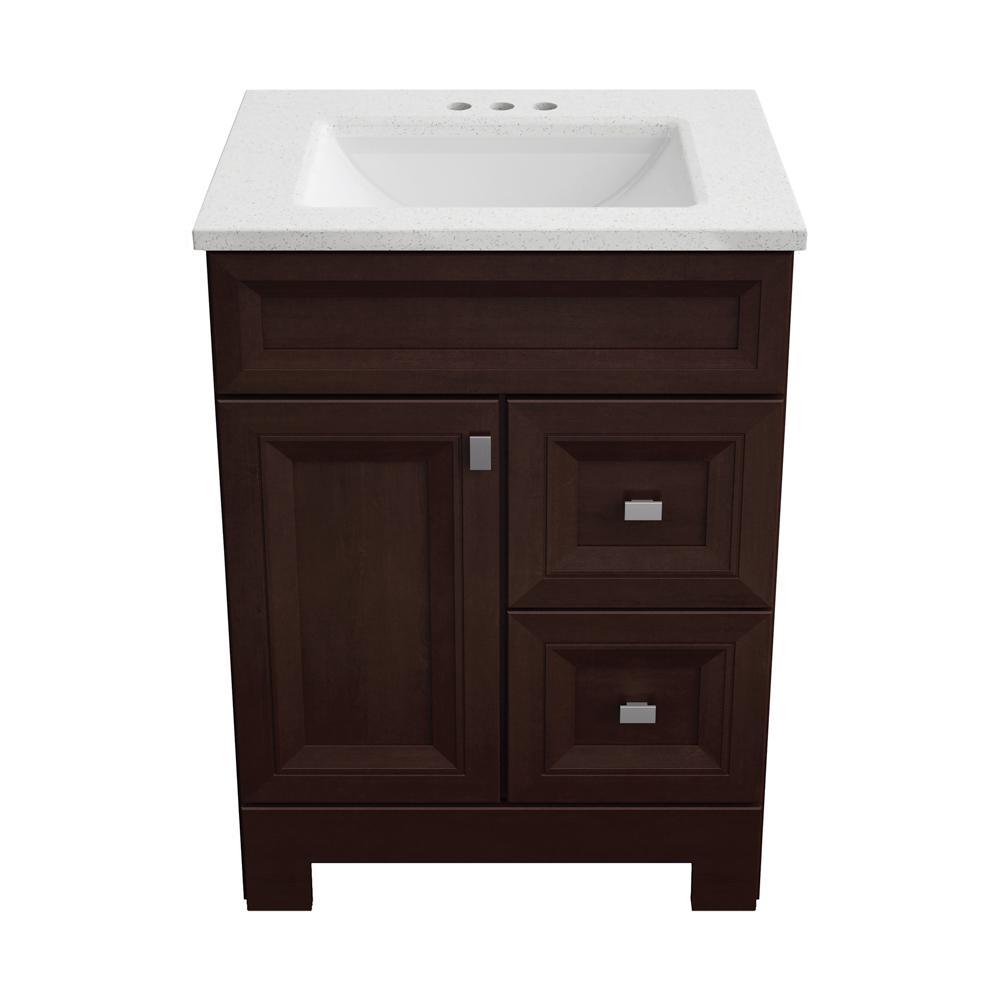 Configurable Bath Vanity In Dark Cognac, Home Depot Bathroom Sinks With Cabinet