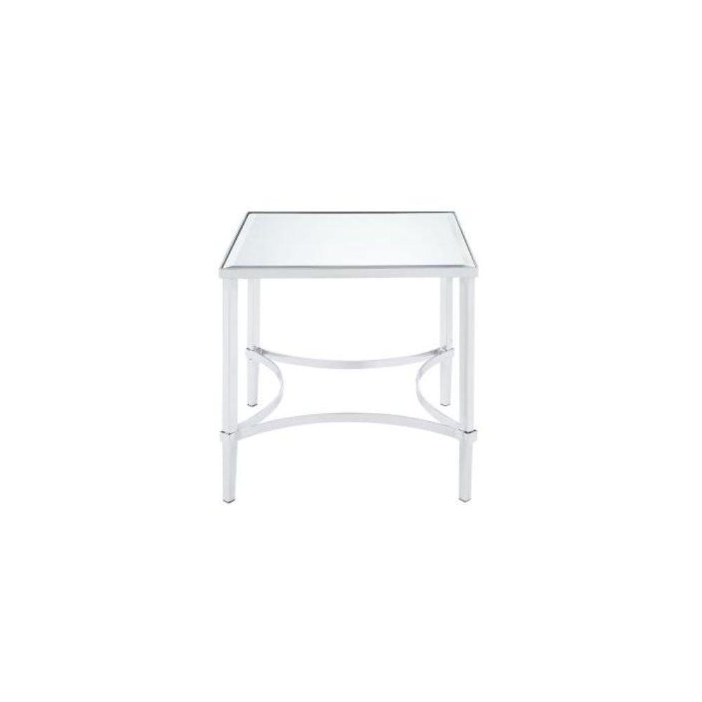 Amelia Chrome Mirrored End Table
