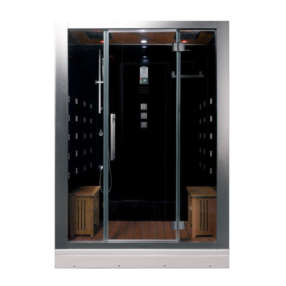 59 in. x 32 in. x 87.4 in. Steam Shower Enclosure