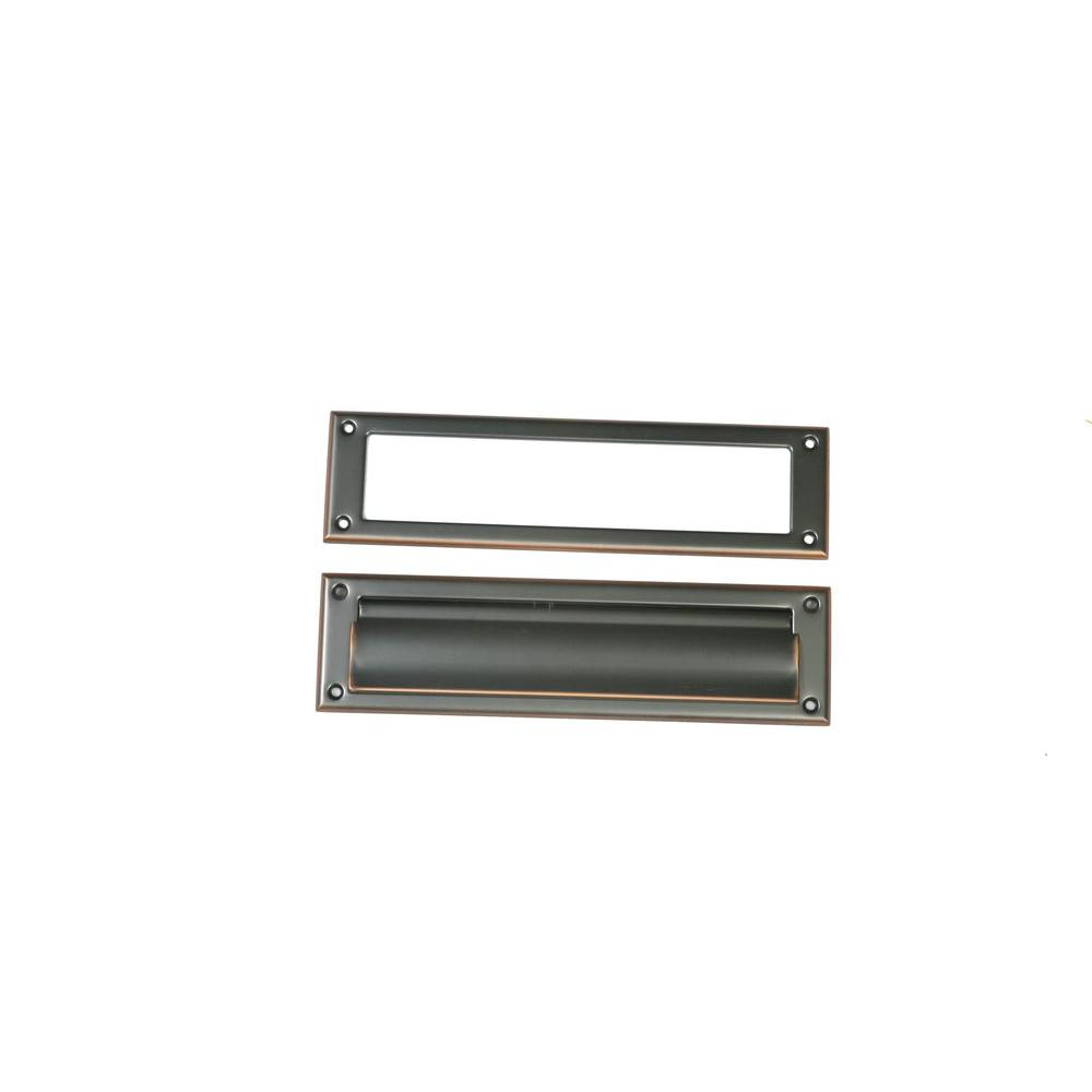 Aluminum Rubbed Bronze Mail Slot