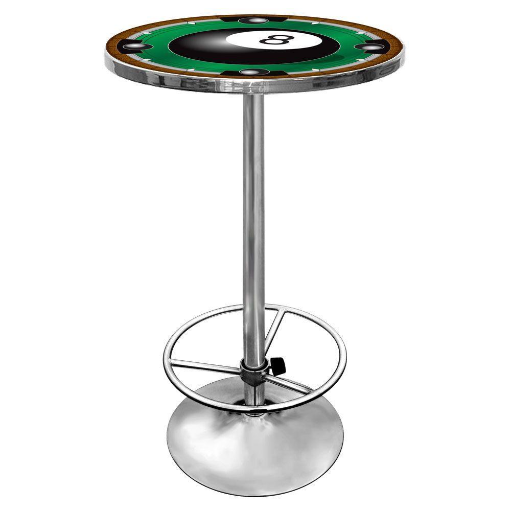 8-Ball Chrome Pub/Bar Table