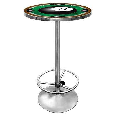 8-Ball Chrome Pub/Bar Table