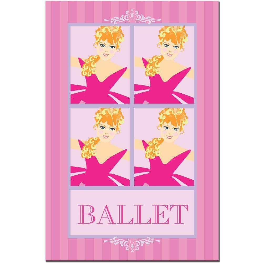 30 in. x 47 in. Ballet in Pink II Canvas Art
