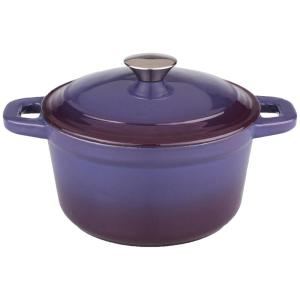 Click here to buy BergHOFF Neo 7 Qt. Purple Round Cast Iron Casserole Dish with Lid by BergHOFF.