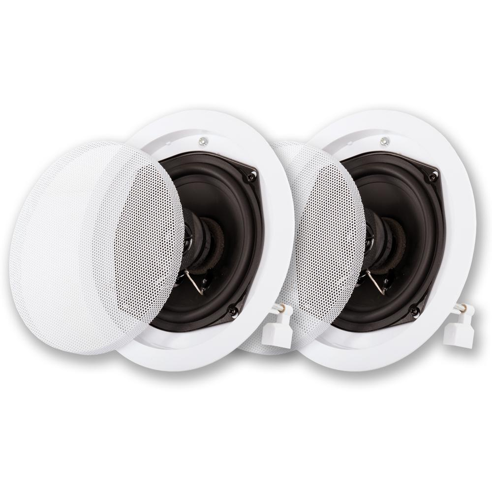acoustic audio by goldwood in ceiling speaker pair 2 way home theater surround sound r 191 the. Black Bedroom Furniture Sets. Home Design Ideas