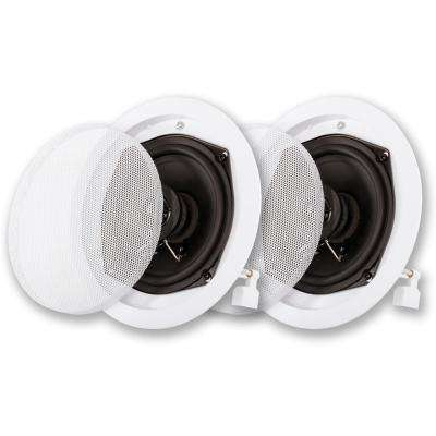In-Ceiling Speaker Pair 2 Way Home Theater Surround Sound