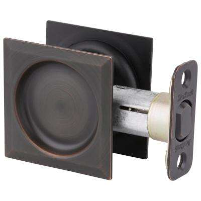 Venetian Bronze Square Hall/Closet Pocket Door Lock