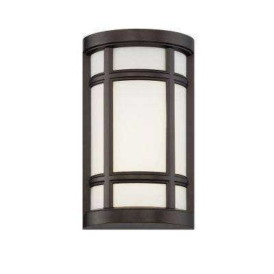 Logan Square Burnished Bronze Interior/Outdoor LED Wall Sconce