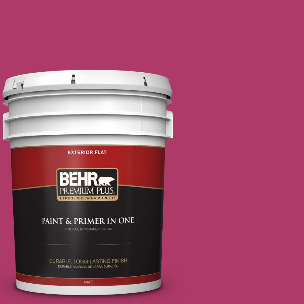5 gal. #HDC-SM16-04 Bing Cherry Pie Flat Exterior Paint