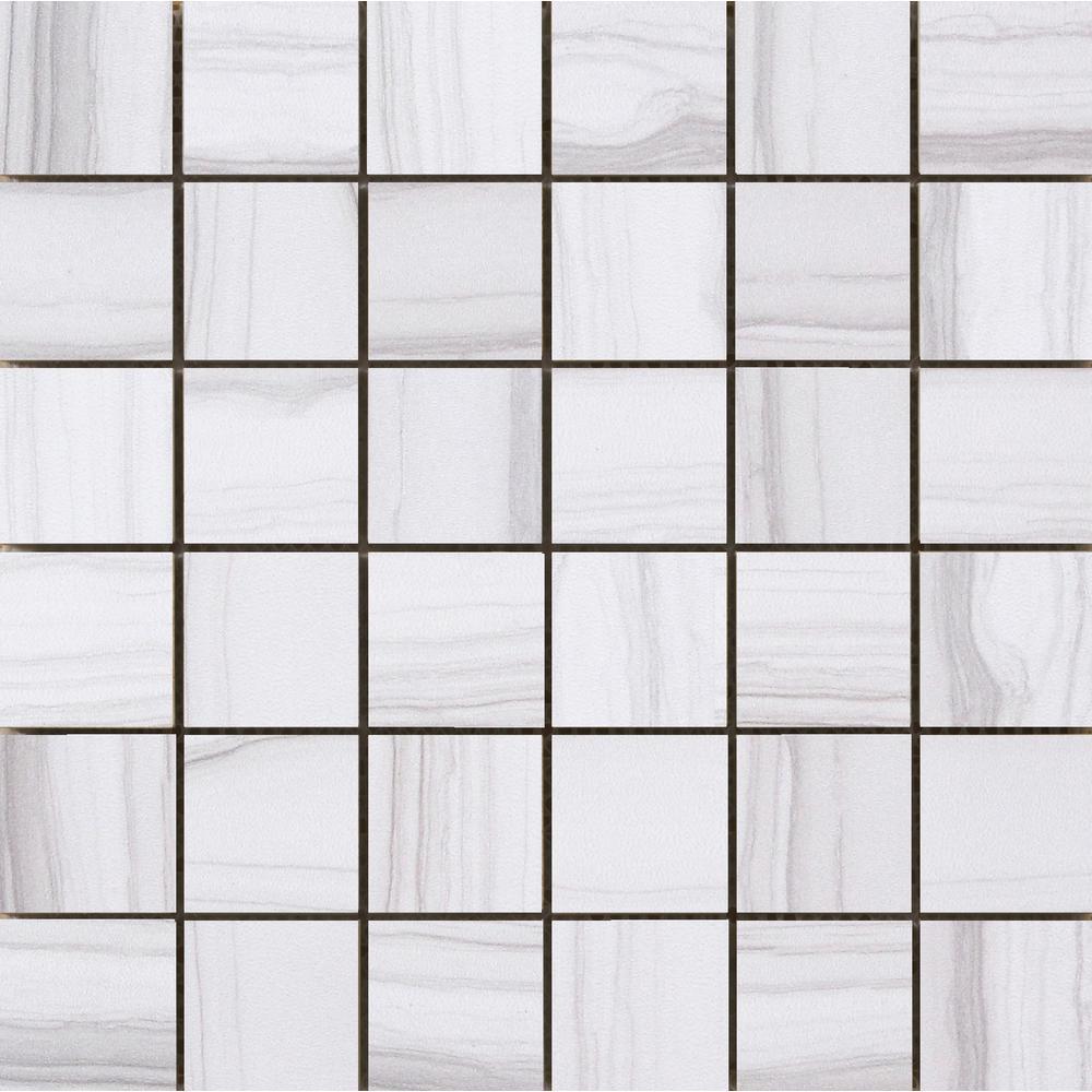 Chronicle Memoir 11.69 in. x 11.69 in. x 10mm Porcelain Mesh-Mounted Mosaic Tile