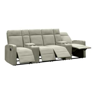 ProLounger 4-Seat Reclining Sofa 114 in. w/2-Storage Consoles