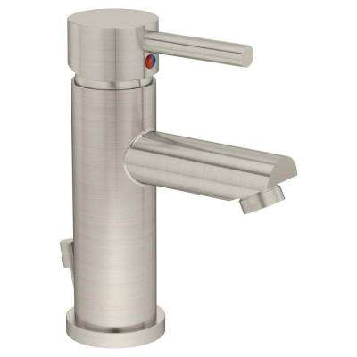 Dia Single Hole 1-Handle Bathroom Faucet in Satin Nickel