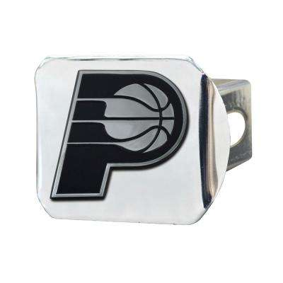 NBA-Indiana Pacers 2 in. Type III Chrome Hitch Cover with Chrome Emblem