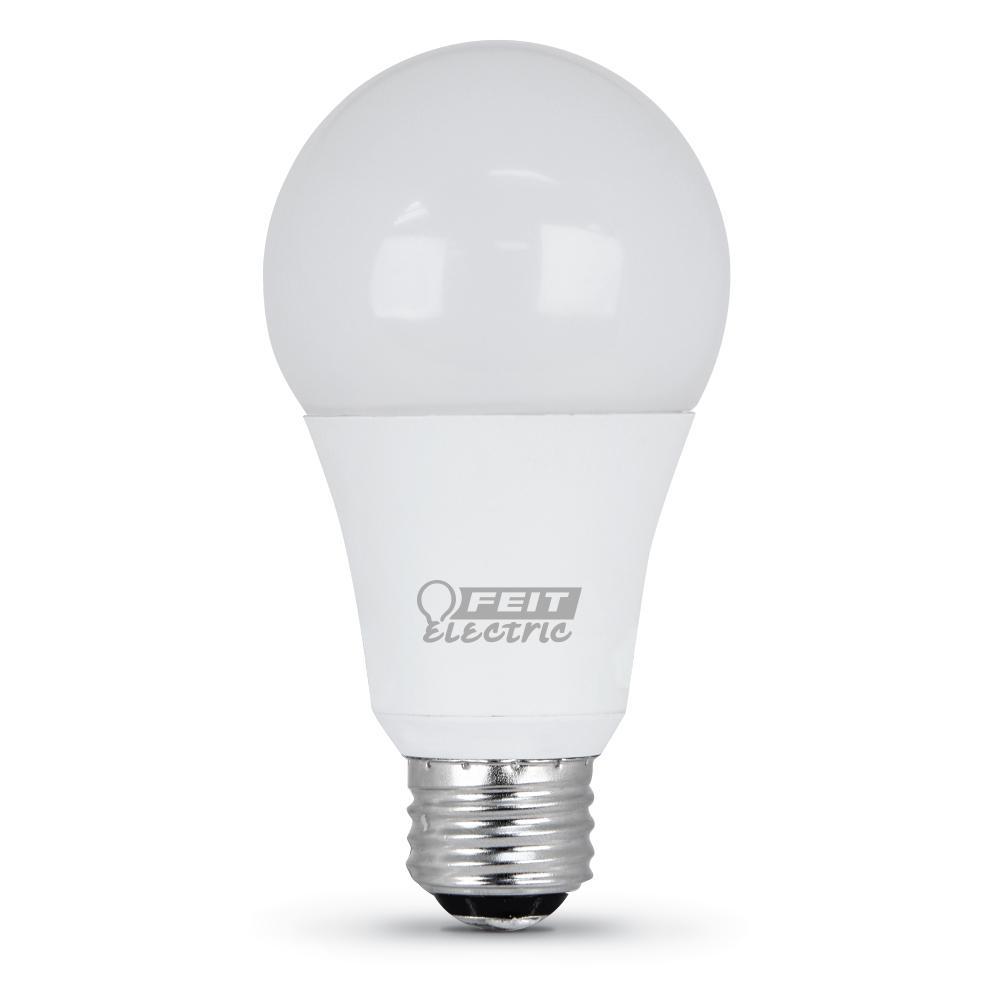 Feit Electric 50/100/150-Watt Equivalent Daylight (5000K) A21 CEC Title 20 Compliant LED 3-Way 90+ CRI Light Bulb