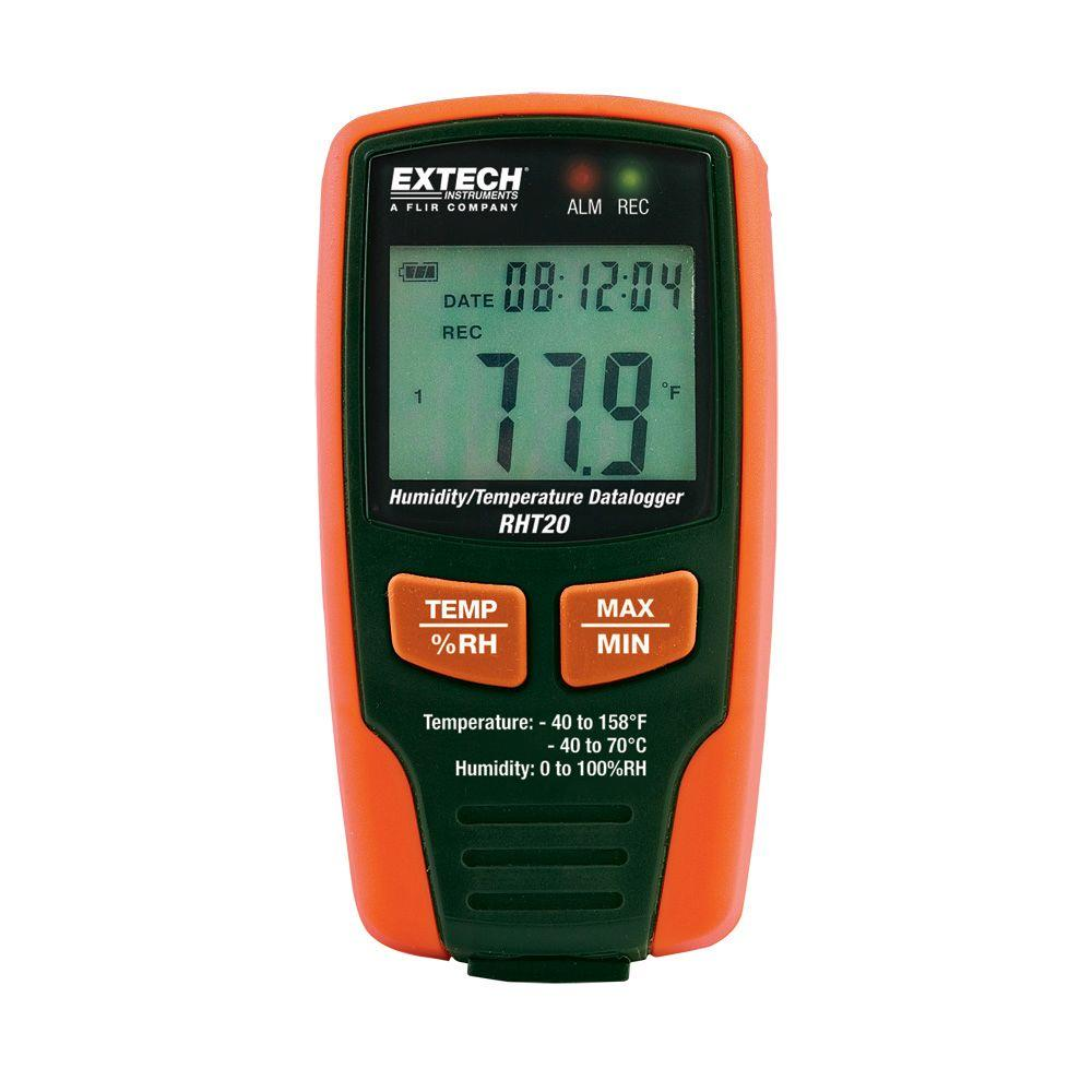 Temperature Data Logger : Extech instruments humidity and temperature data logger
