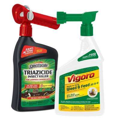 Triazicide Insect Killer and Weed and Feed Ready to Spray Bundle Pack 2 ct.