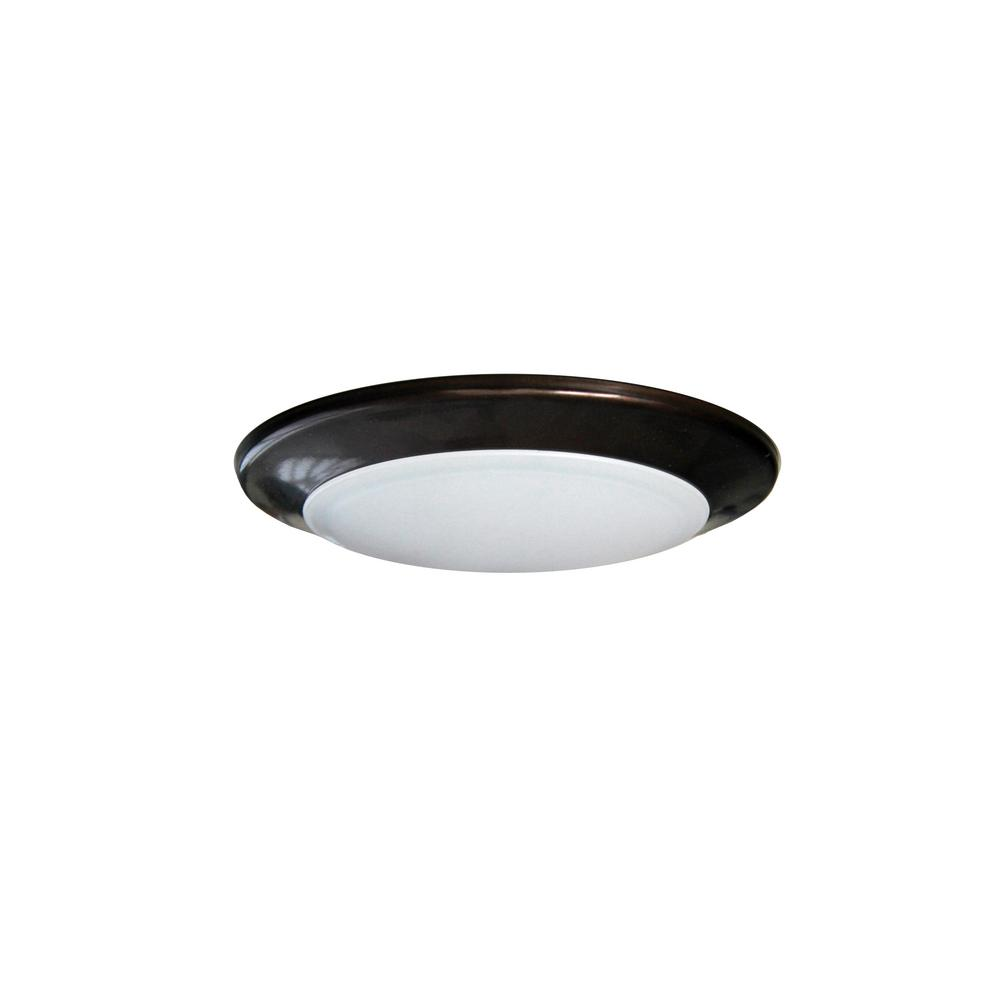 Round Disk Light Length 4 In Bronze Recessed Integrated Led Trim Kit Fixture 3000k Warm White New Construction