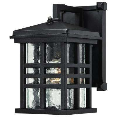 Dusk to dawn outdoor wall mounted lighting outdoor lighting caliste textured black outdoor dusk to dawn wall lantern aloadofball Choice Image