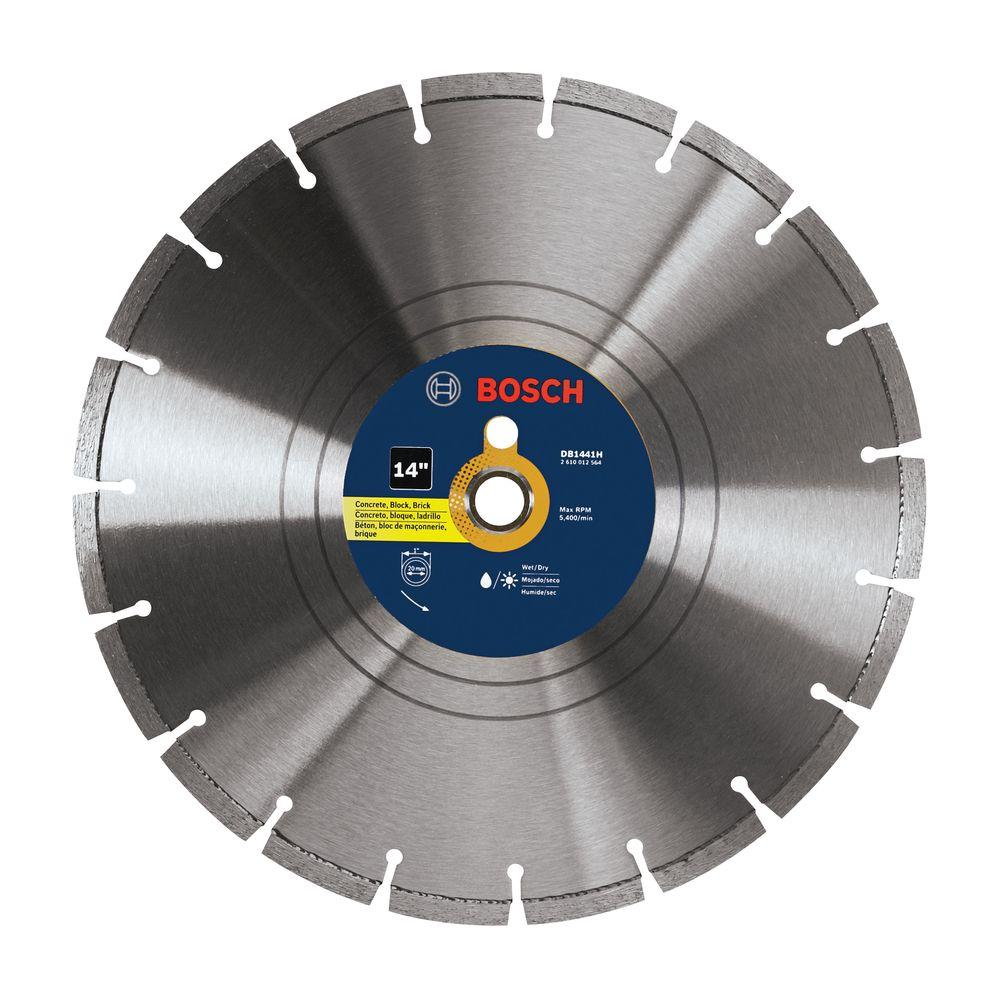 14 in. Diamond Segmented Circular Saw Blade for Block, Brick, Concrete,