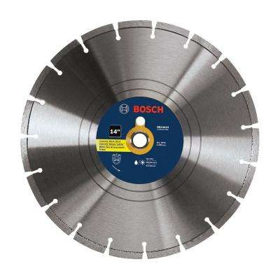 14 in. Diamond Segmented Circular Saw Blade for Block, Brick, Concrete, and Stone