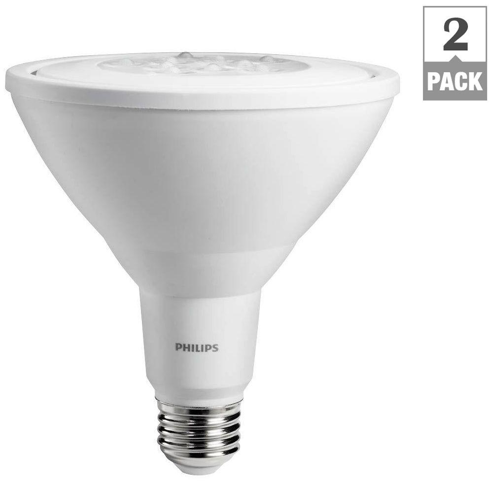 philips 90 watt equivalent par38 non dimmable led daylight 2 pack 460568 the home depot. Black Bedroom Furniture Sets. Home Design Ideas