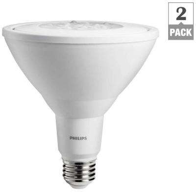 90W Equivalent Daylight Non-Dimmable LED PAR38 Light Bulb (2-Pack)
