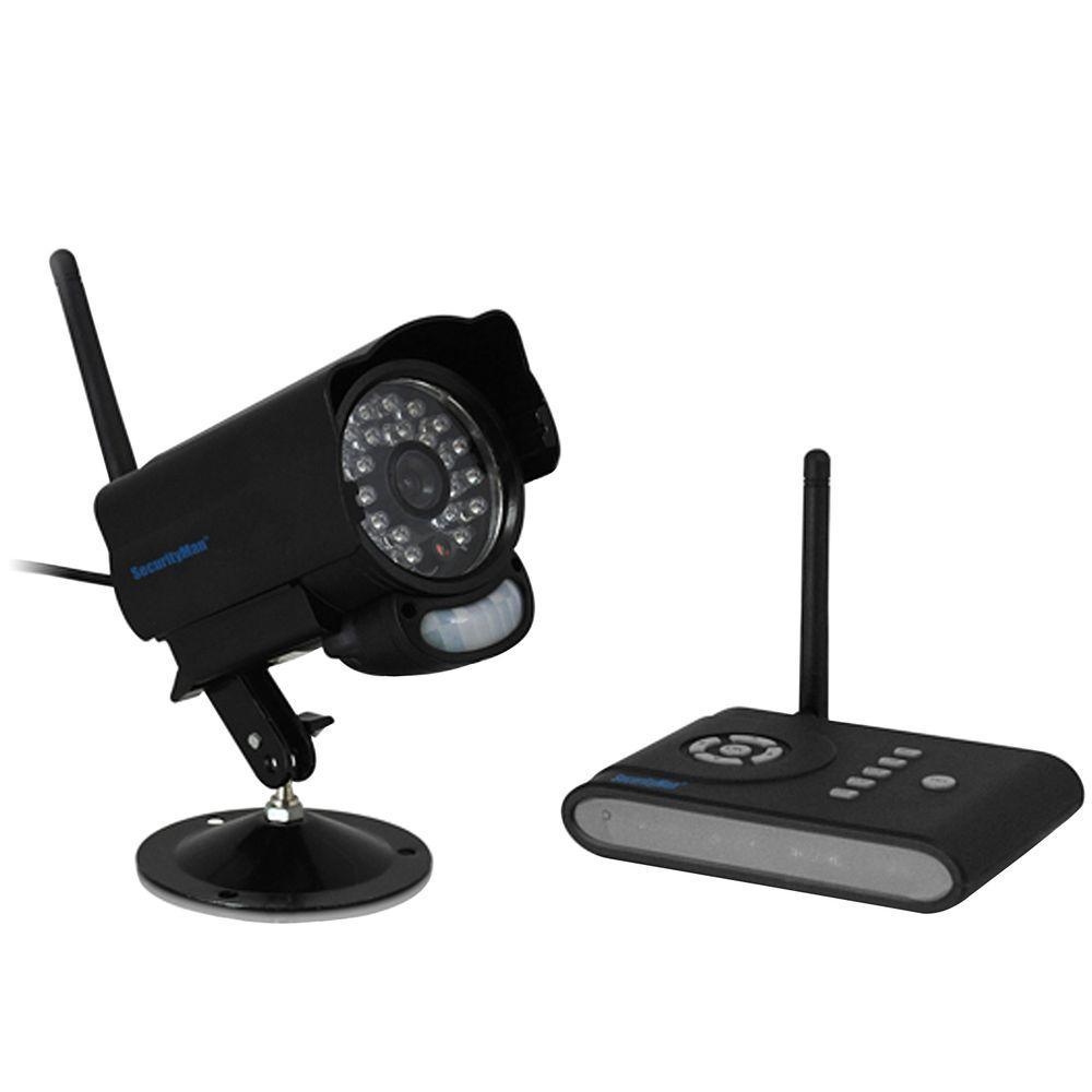 Digital Wireless Indoor Camera with PIR Motion Sensor 2-Way Audio and SD DVR Receiver