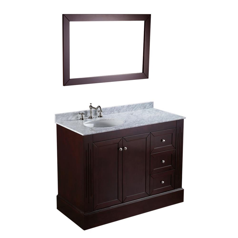 45 Bathroom Vanity Home Depot: Bosconi 45 In. W Single Bath Vanity In Dark Espresso With