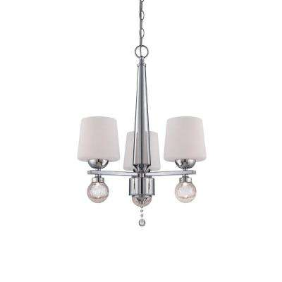 Astoria 3-Light Chrome Interior Incandescent Chandelier