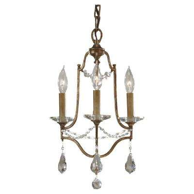 Valentina 3-Light Oxidized Bronze Mini-Chandelier