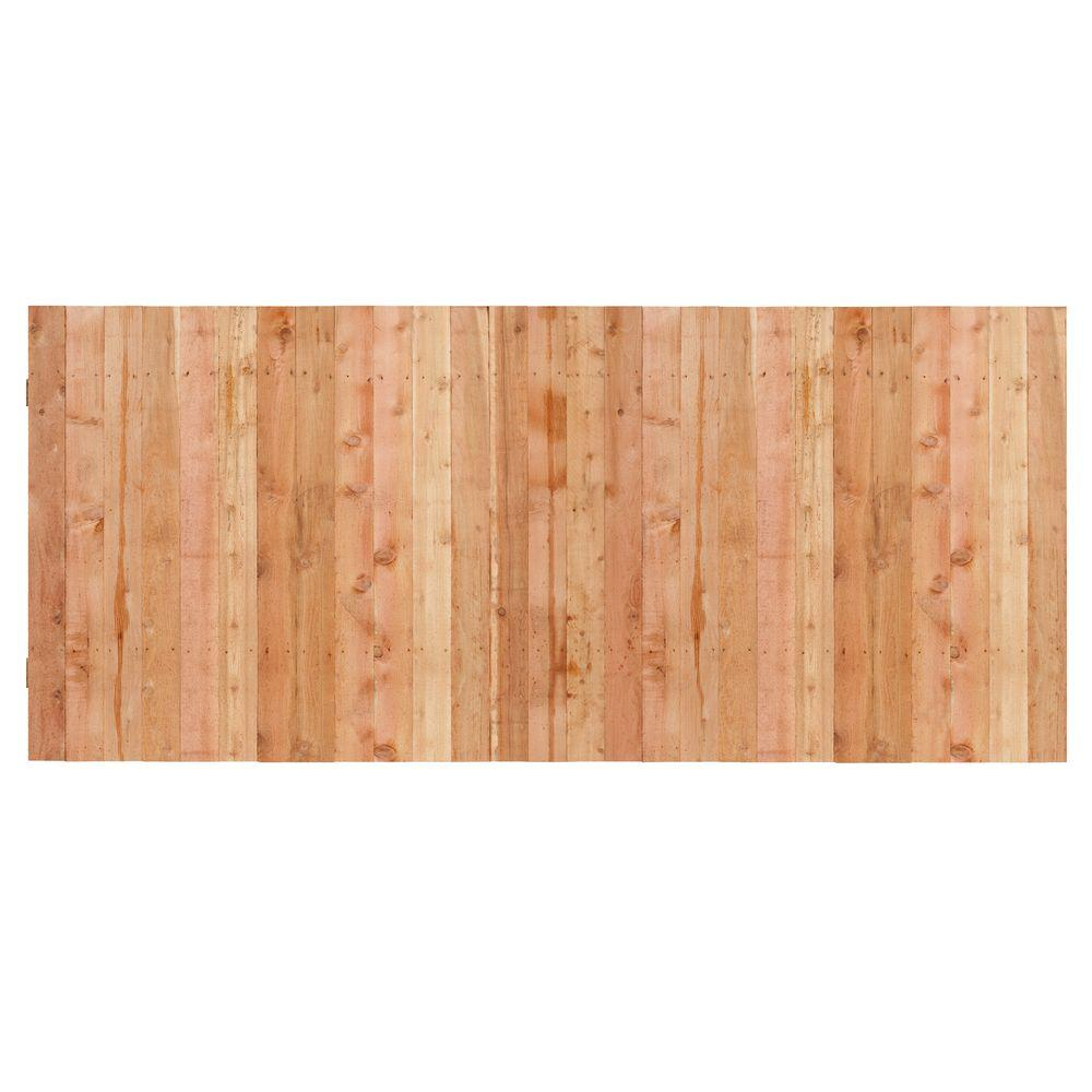 3-1/2 ft. H x 8 ft. W Cedar Flat Top Privacy Fence Panel