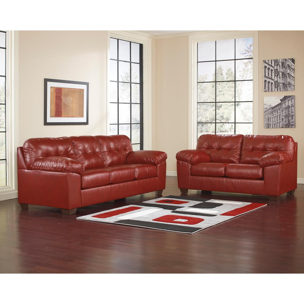 Signature Design by Ashley Alliston 2-Piece Red Salsa DuraBlend Living Room  Set