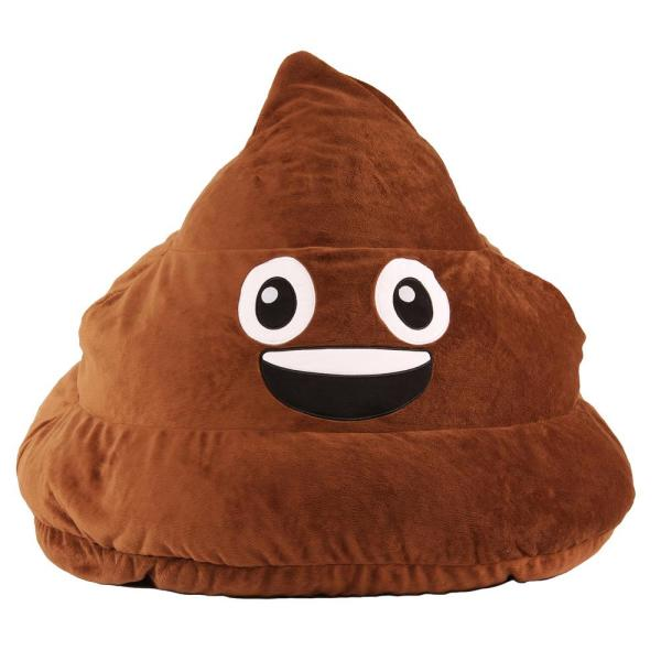 Poopsie Emoji Brown Bean Bag