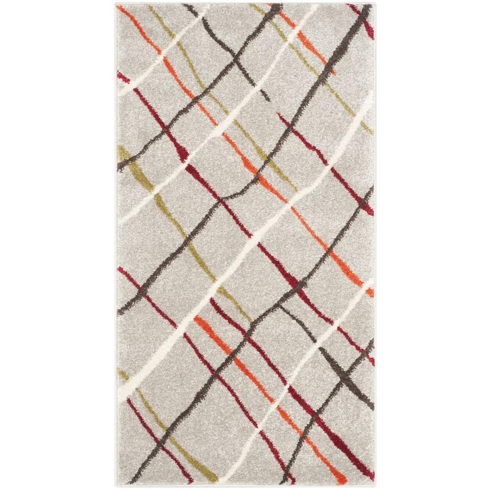 Porcello Grey/Multi 2 ft. 7 in. x 5 ft. Area Rug