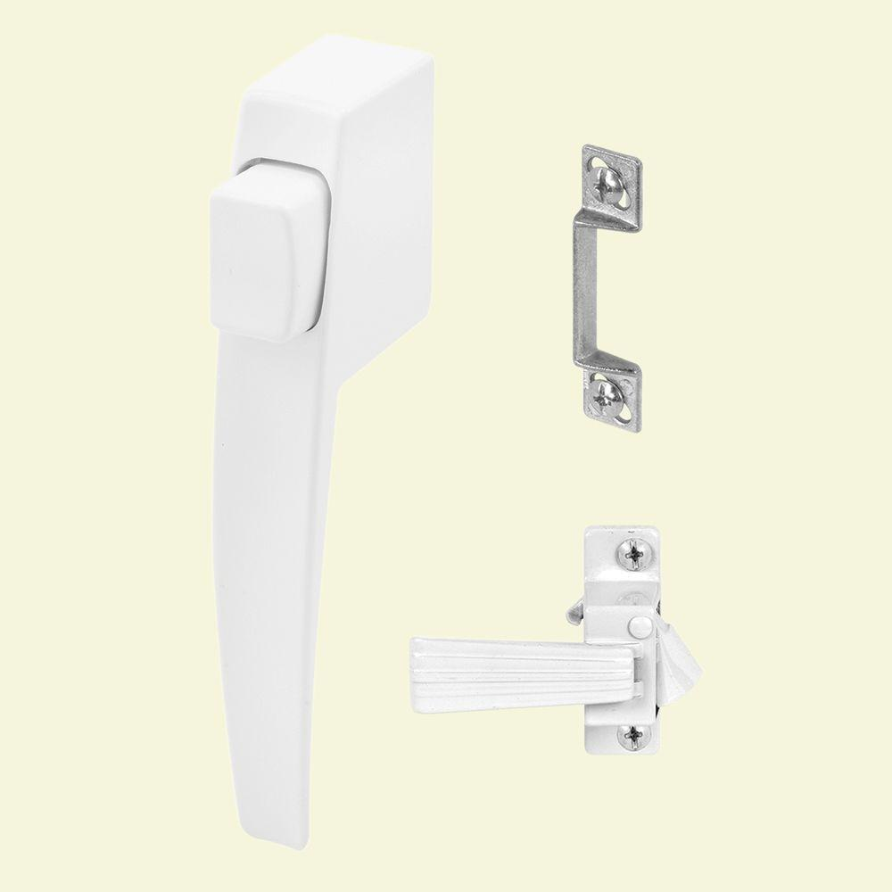 Prime-Line White, Screen or Storm Door Push Button Door Latch