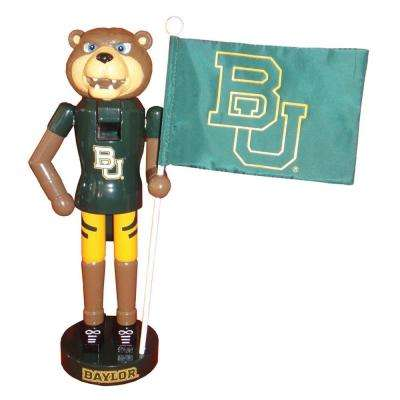 12 in. Baylor Mascot Nutcracker with Flag