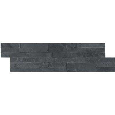 Midnight Ash Veneer Peel and Stick 6 in. x 22 in. Honed Slate Wall Tile (0.92 sq. ft.)