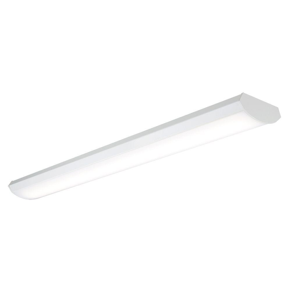 24-Watt 4ft. White Low Profile Linear Integrated LED Wraparound Light, 2600