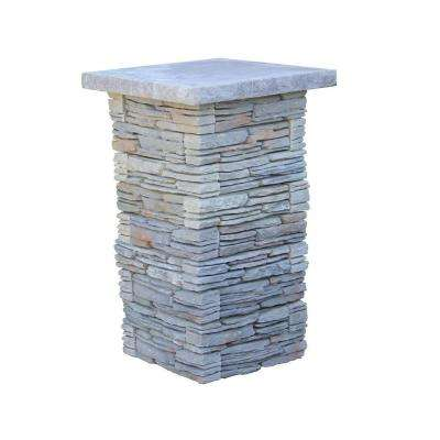 Nantucket Pavers 42.5 in. x 26 in. CT Fieldstone Gray Variegated Pier Kit with Flat Cap