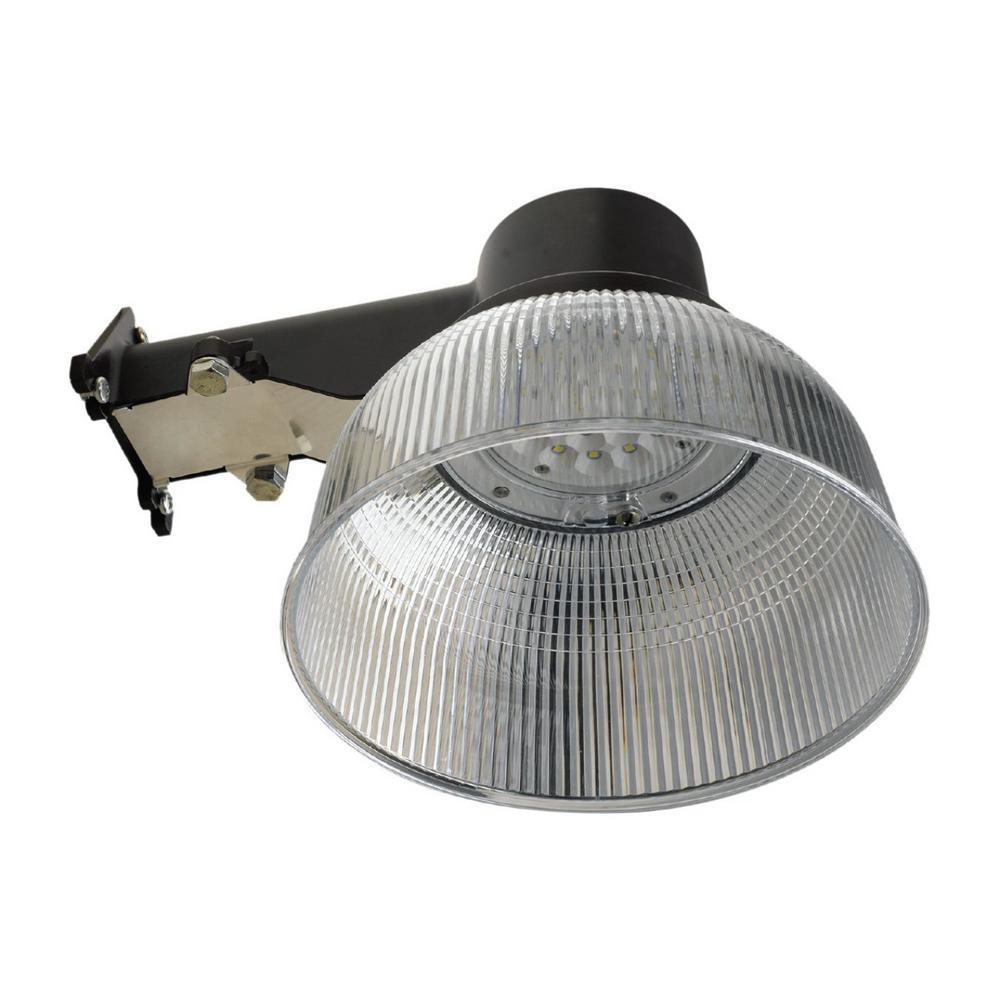 Honeywell 22-Watt Wall/Pole Mount Integrated LED Bronze Outdoor Area Light with Dusk to Dawn Sensor