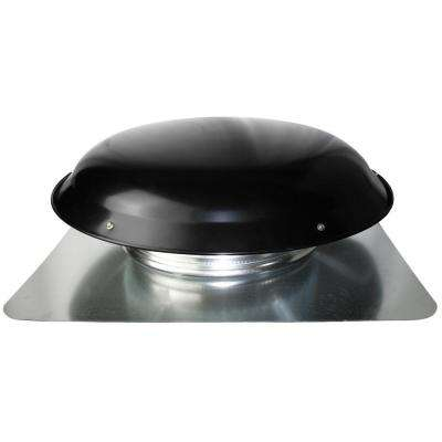 1400 CFM Black Galvanized Steel Power Attic Roof Ventilator